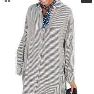 Madewell Button Up Stripe Dress